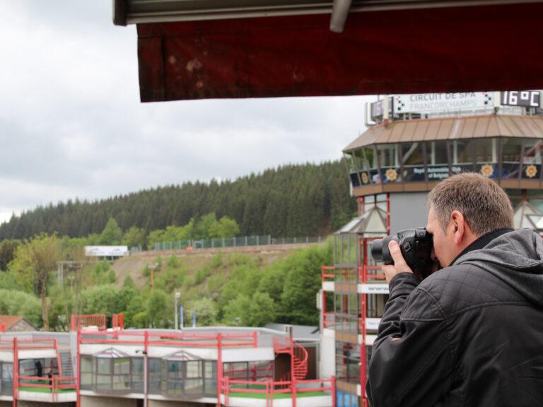 Activité dans la loge WIFFI à Spa Francorchamps
