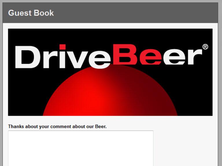 Livre d'Or pour le cadeau de société DriveBeer