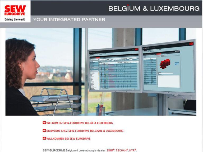 Homepage permettant d'accéder à différents sites internet